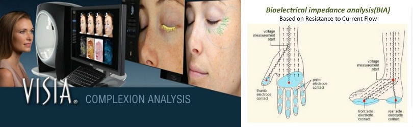 At Spa Cielo, we do ongoing assessment through the entire treatment program to evaluate your progress every step of the way, using two powerful computerized analysis tools: VISIA: computerized skin scan and BIA: Bioelectrical Impedance Analysis